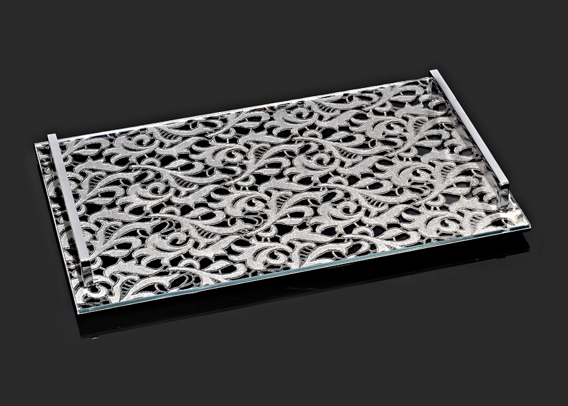 Gipour Serving Challah Board by Metal Lace Art